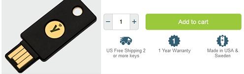 YubiKey 5 NFC promo code